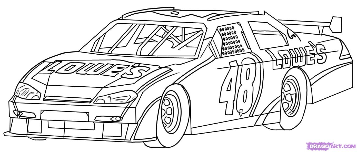 Drawn race car #3