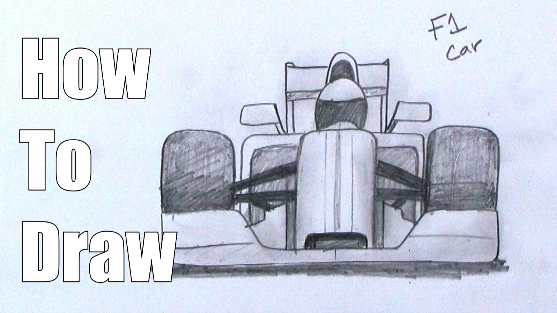 Drawn race car Car Draw F1 an