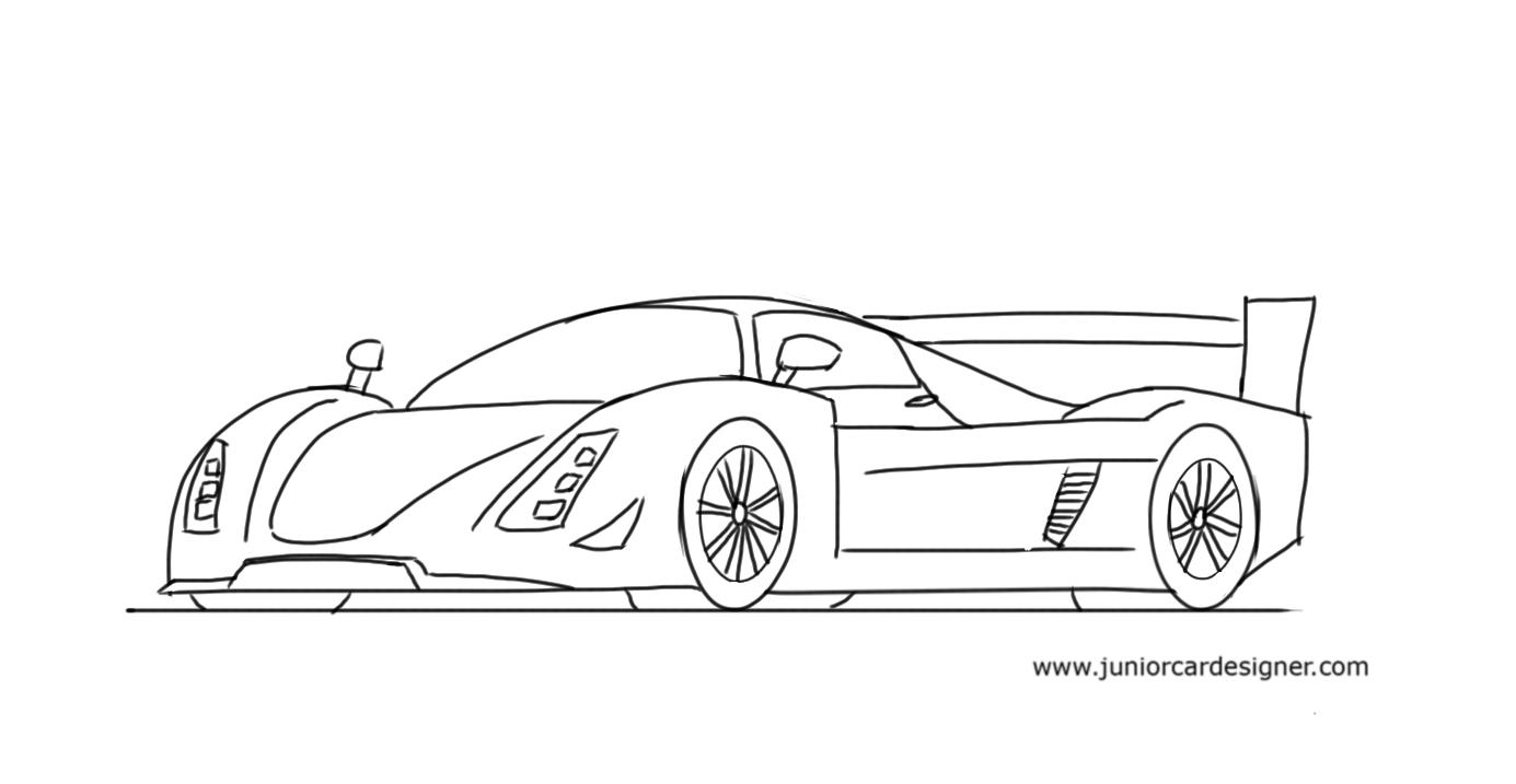 Drawn race car #5
