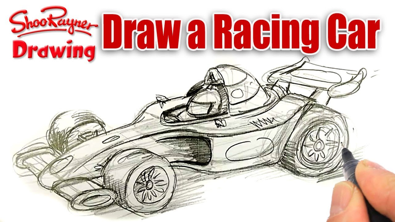 Drawn race car #7