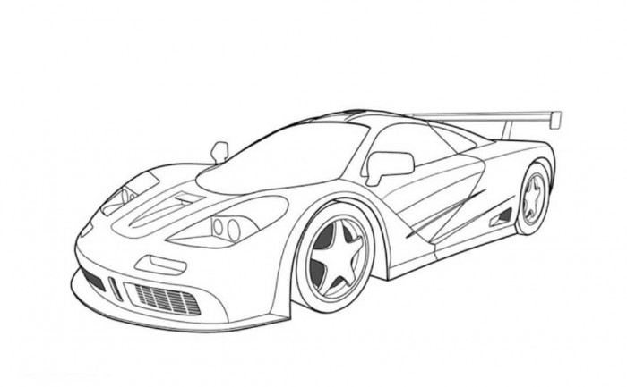 Drawn race car #6
