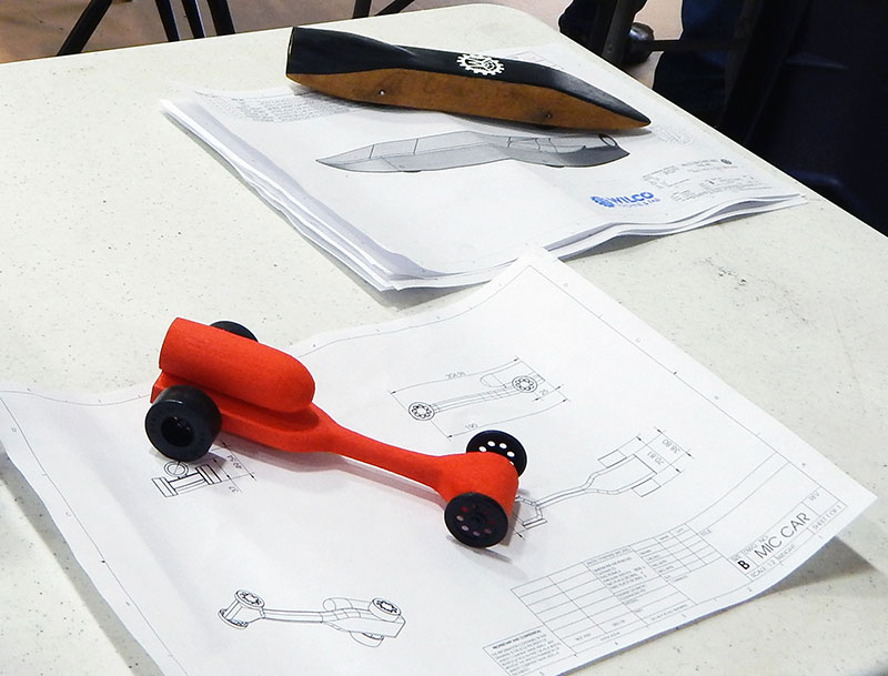 Drawn race car car design Designing views power measuring housing