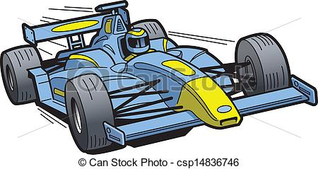 Race Car clipart blue Speeding EPS csp14836746 Speeding