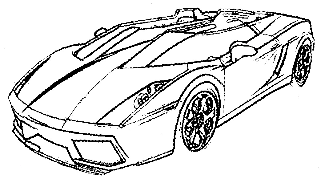 Drawn race car coloring page Easy color coloring cars make