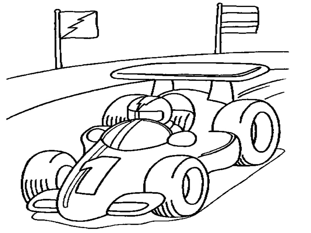 Drawn race car coloring page Color Coloring 2433 Pages Coloring