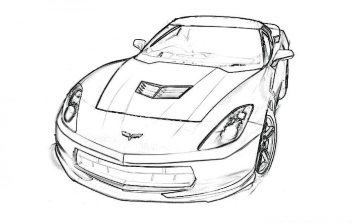 Drawn race car coloring page For Free Coloring For Car