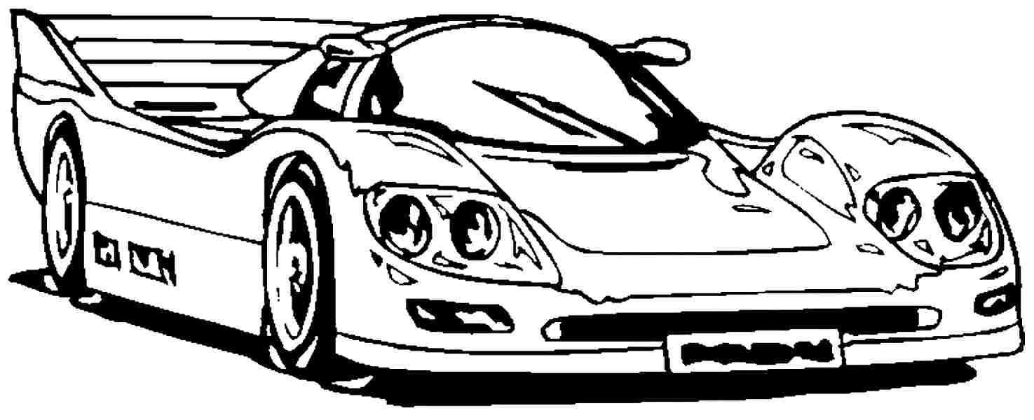 Drawn race car coloring page Com Colouring Racing Racing Coloring
