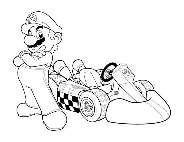 Drawn race car colouring page Race printable race pages To
