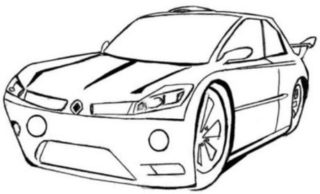 Drawn race car colouring page His page  car car