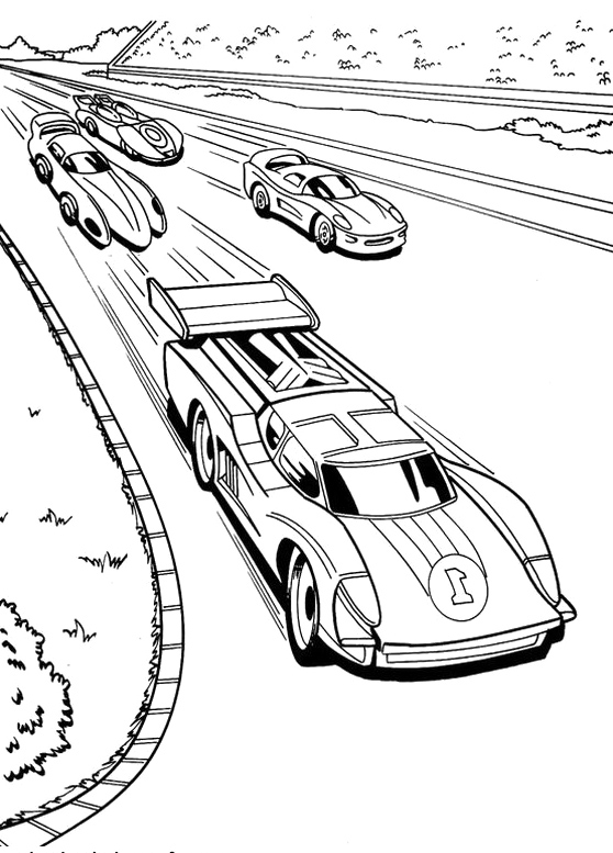 Drawn race car colouring page Page coloring pages 1