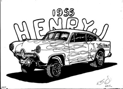 Drawn race car drag car Racing Called J Henry Car;