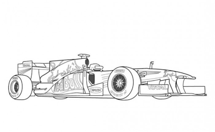 Drawn race car f1 car F1 page bull pages shaets