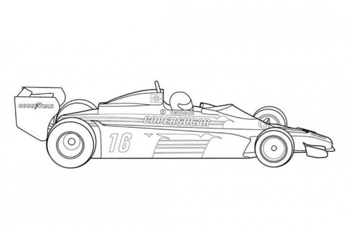 Drawn race car f1 car F1 F1 Page Coloring Classic