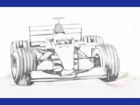 Drawn race car f1 car YouTube F1 wmv F1 wmv