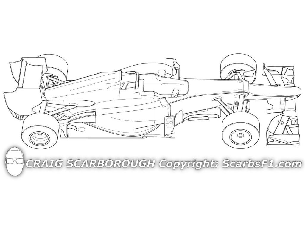 Drawn race car f1 car F1 net image Blank Image