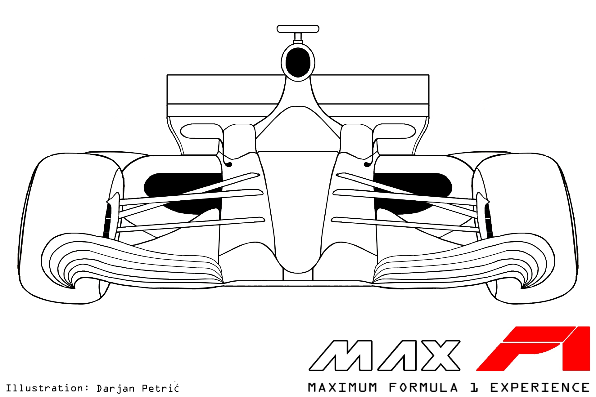 Drawn race car f1 car Maxf1 2017 2017 F1 net