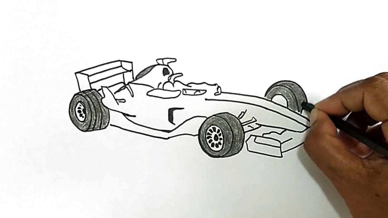 Drawn race car f1 car A Draw YouTube Formula Draw