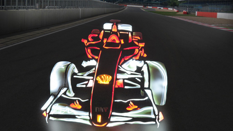 Drawn race car graffito And Marc then Light Mark