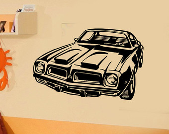Drawn race car muscle car Etsy Decal car Wall Muscle