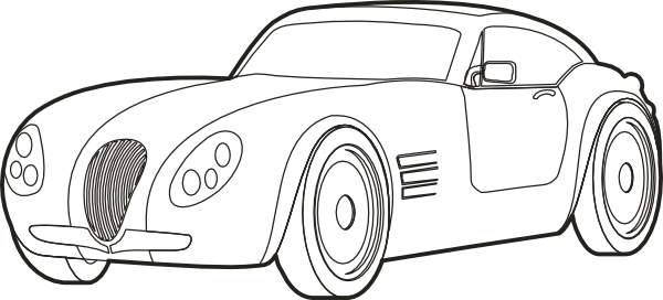 Drawn race car outline Online Art Logo Outline art