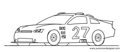 Drawn race car outline Draw Designer for How car