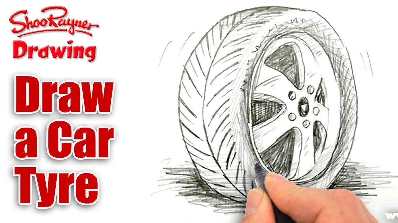 Drawn smoke tire Tire/Tyre a How Tutorial draw