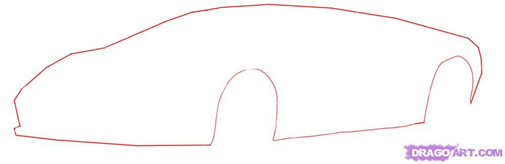 Drawn race car simple How To by  a