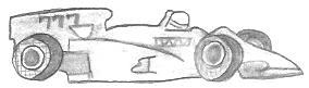 Drawn race car simple Car Drawings Pencil Formula One