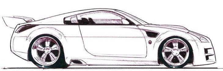 Drawn race car simple To draw step a a