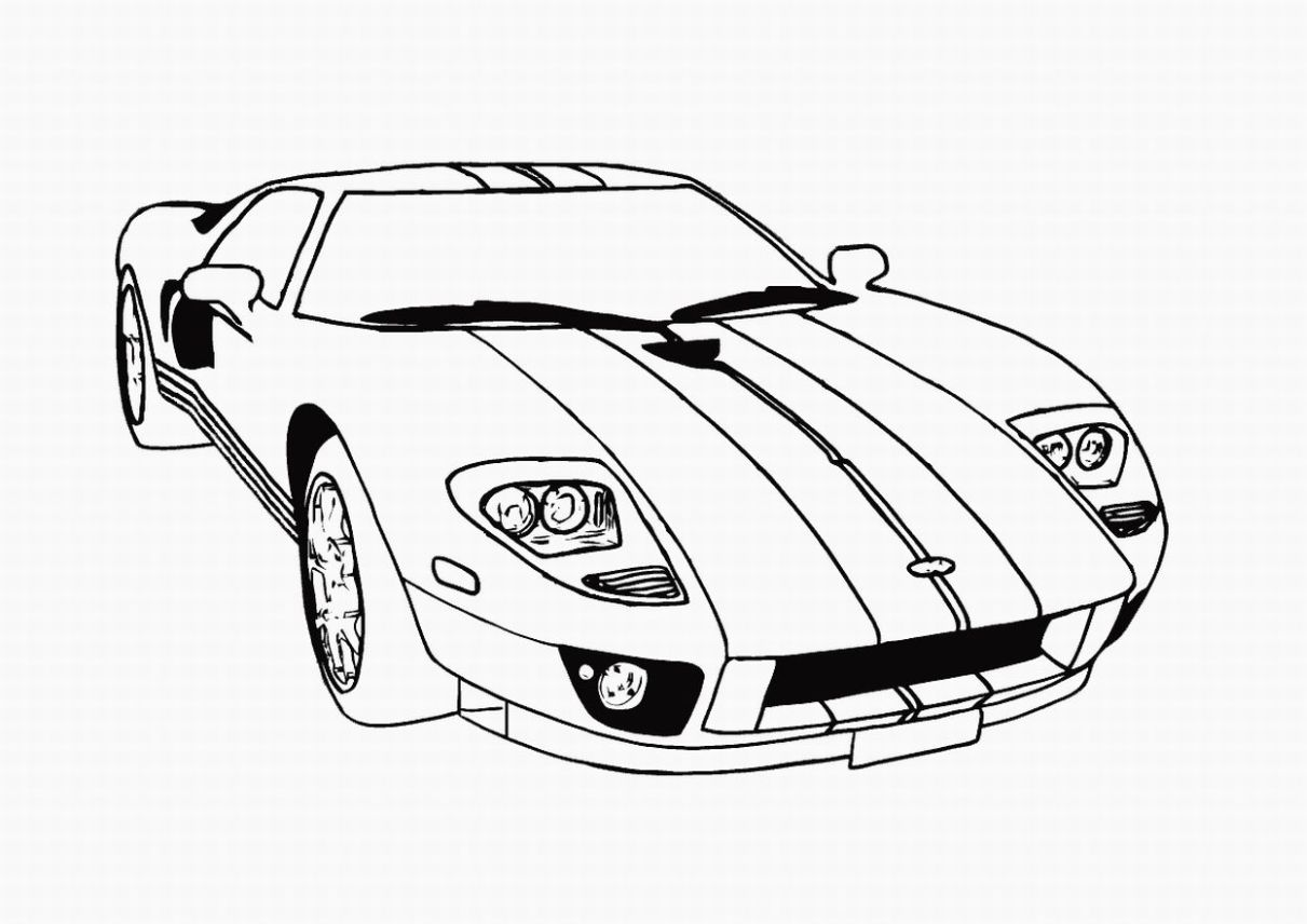 Drawn race car simple Car Kids Coloring Pages Pages