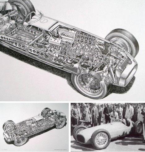 Drawn race car vehicle Cutaways via: Vehicle Auto) and