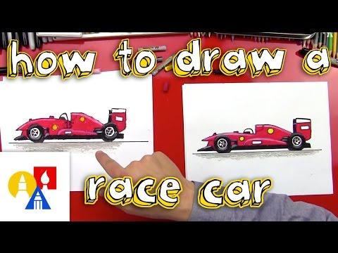 Drawn race car vehicle Easy How Car Race Draw