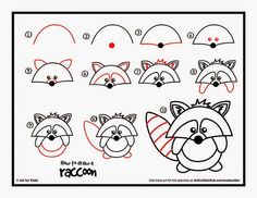 Drawn raccoon art for kid hub The Raccoon How For Lizards