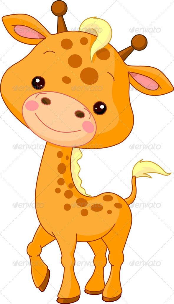 Drawn racoon baby giraffe Animal baby Norton  cartoon