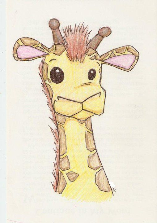 Drawn raccoon baby giraffe Giraffe cartoon Pinterest characters baby