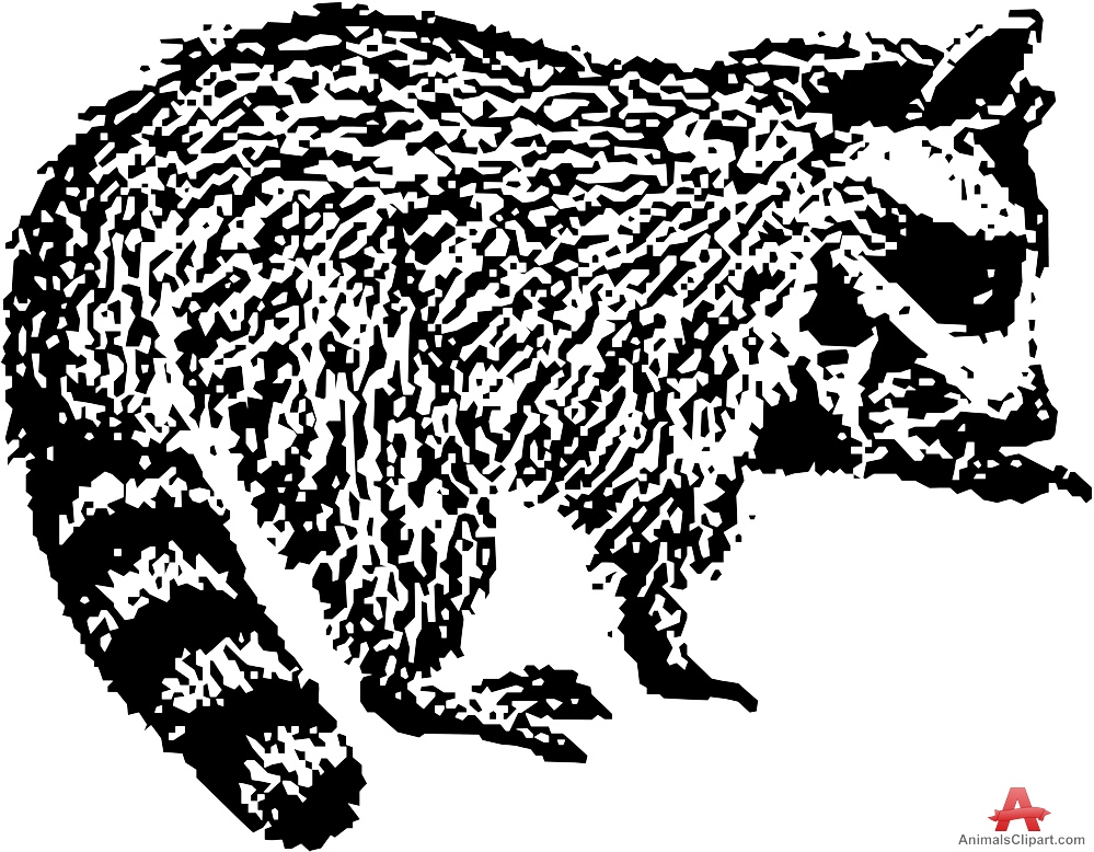 Drawn raccoon clipart Raccoon Clipart with Animals Clipart