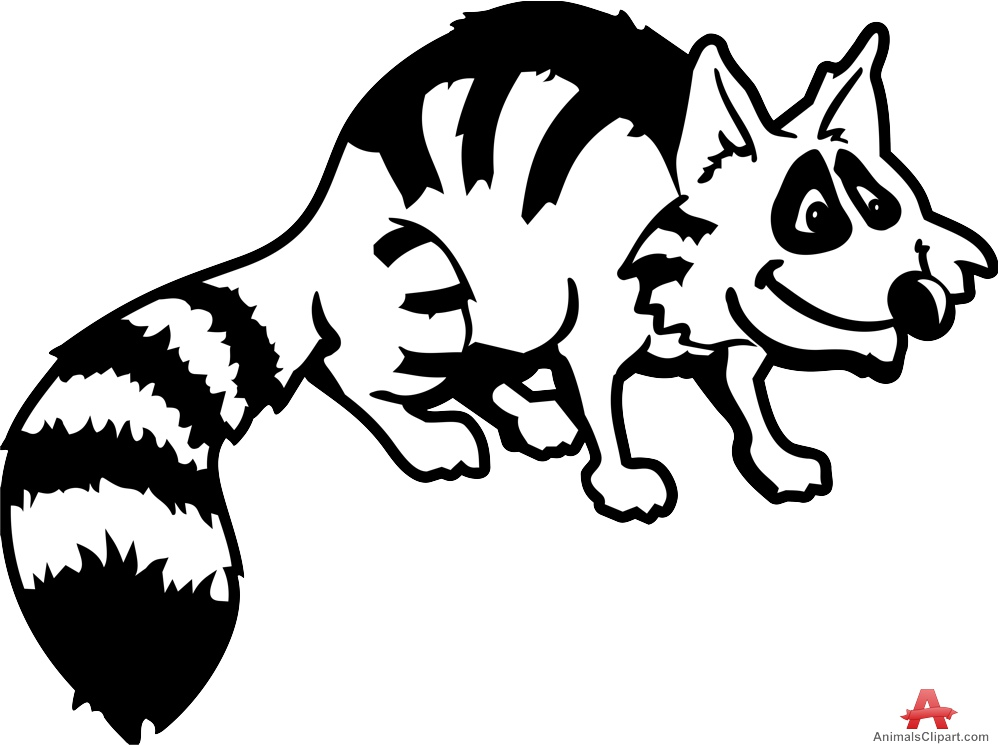 Drawn raccoon clipart The with Raccoon in Animals