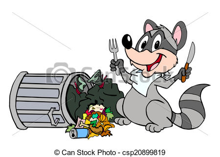 Drawn racoon cartoon Raccoon Garbage clipart collection Animated
