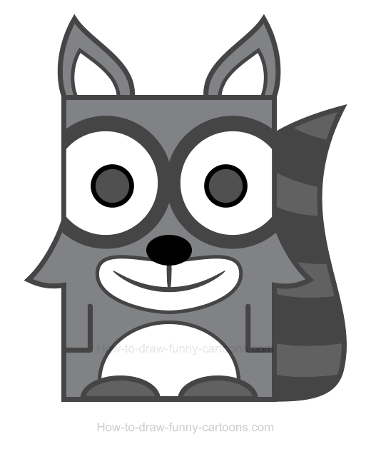 Drawn racoon cartoon Raccoon Raccoon Clipart Clipart How