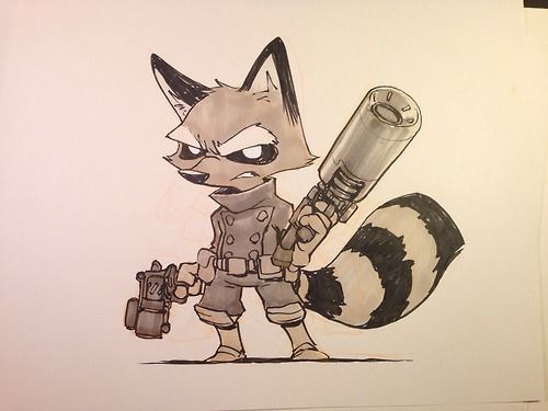 Drawn racoon chibi Find best Pinterest about this