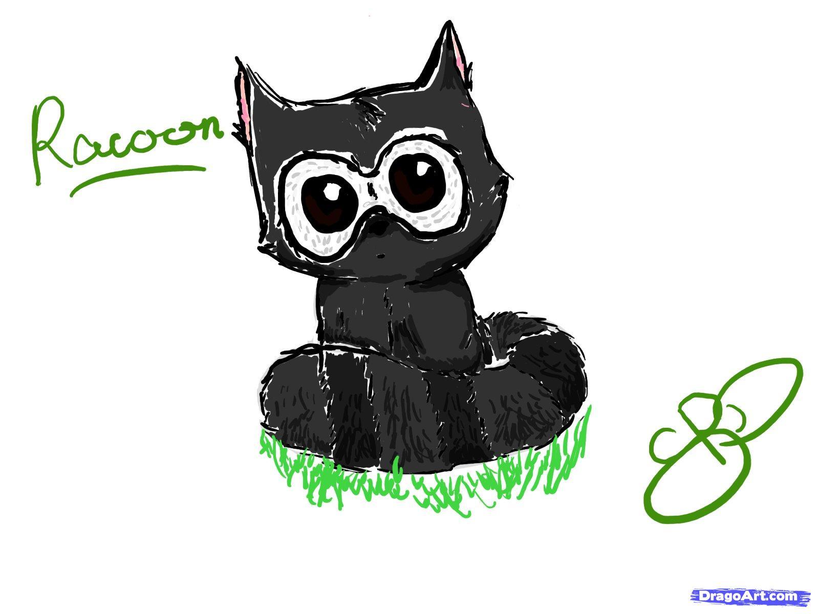 Drawn raccoon chibi Cute cute Chibi a to