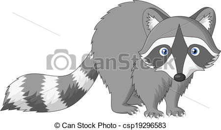 Drawn racoon clipart Cartoon Vector csp19296583 Vector
