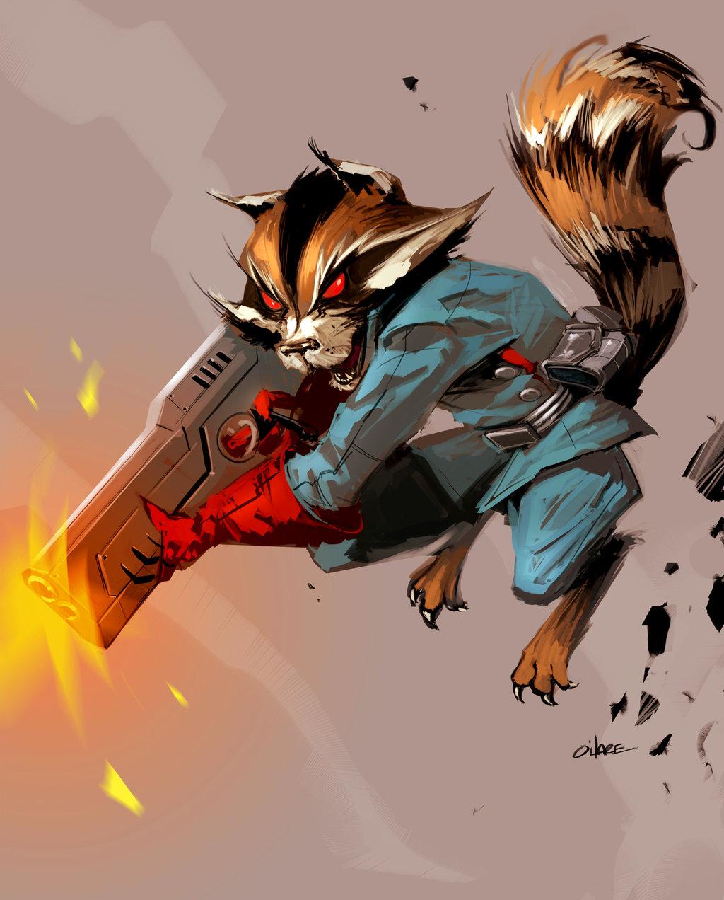 Drawn racoon comic Rocket Raccoon Wolverine Provided Vine
