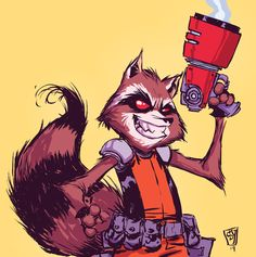 Drawn racoon comic Rocket for ♥ this Comic