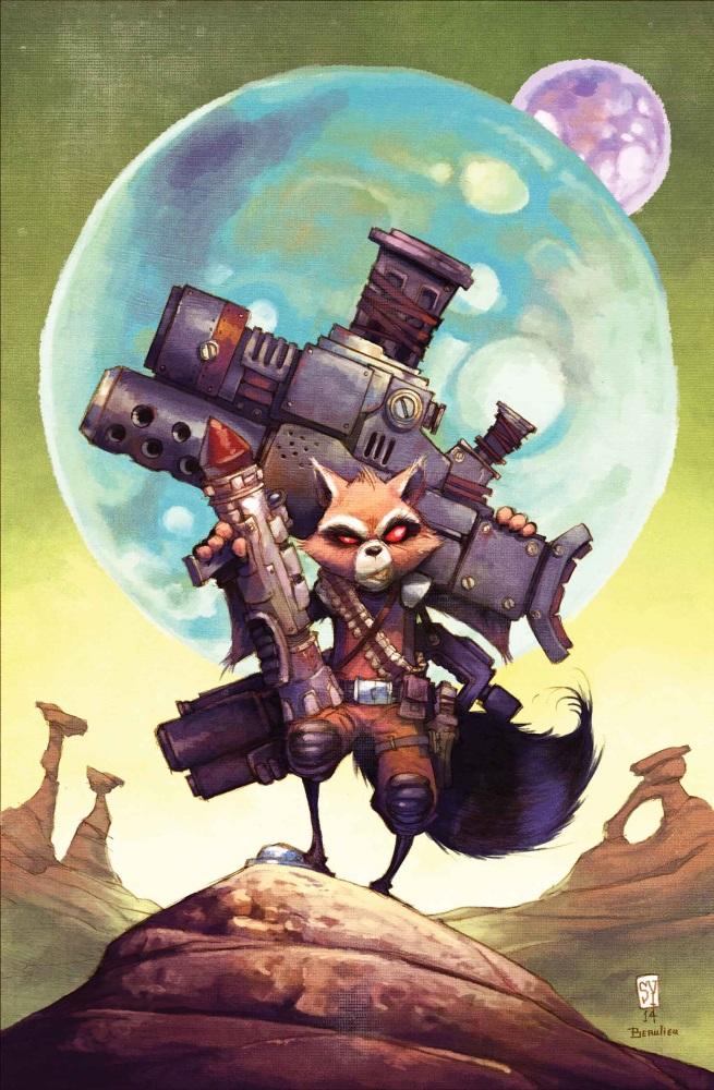 Drawn racoon comic Look: Rocket #3 First Raccoon