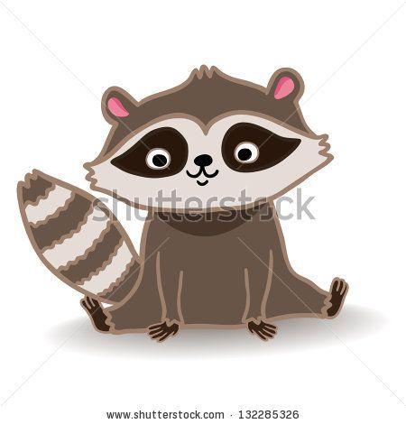 Drawn racoon cute Vector raccoon vector cute illustration