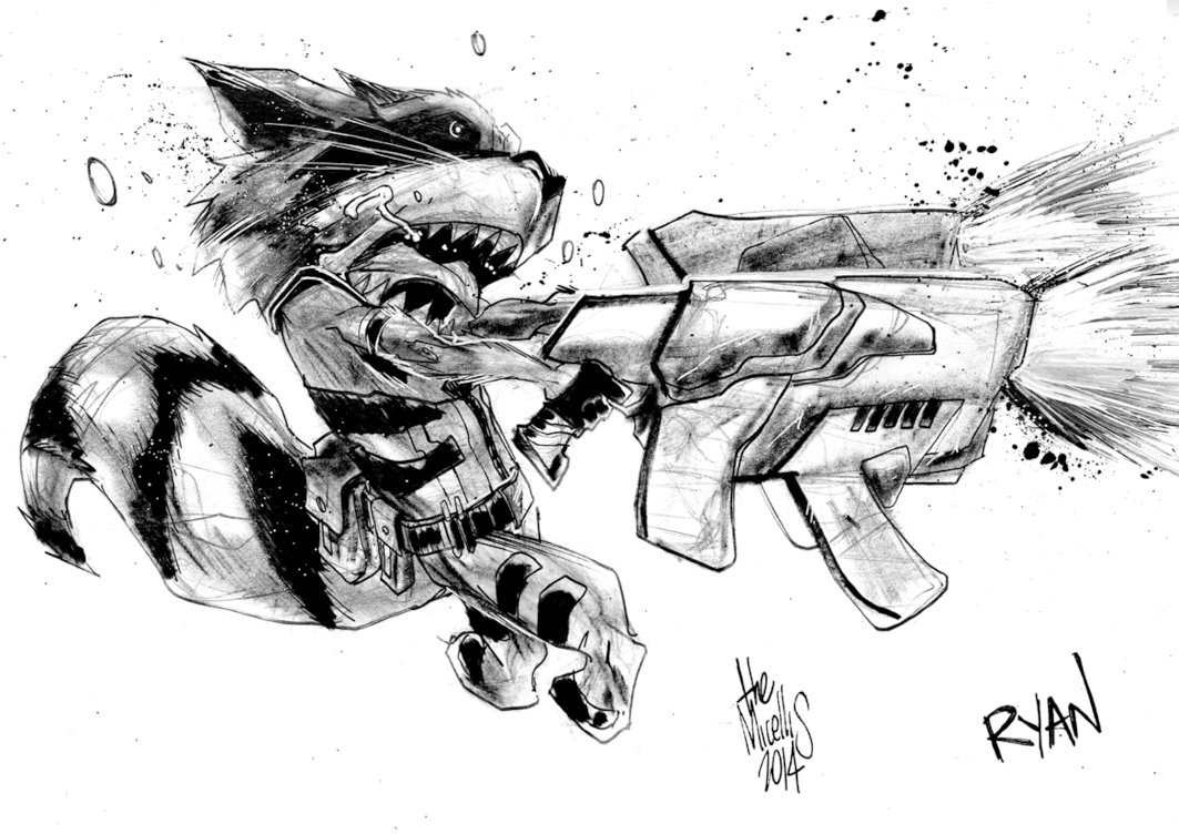 Drawn racoon deviantart Raccoon alessandromicelli on Rocket Raccoon