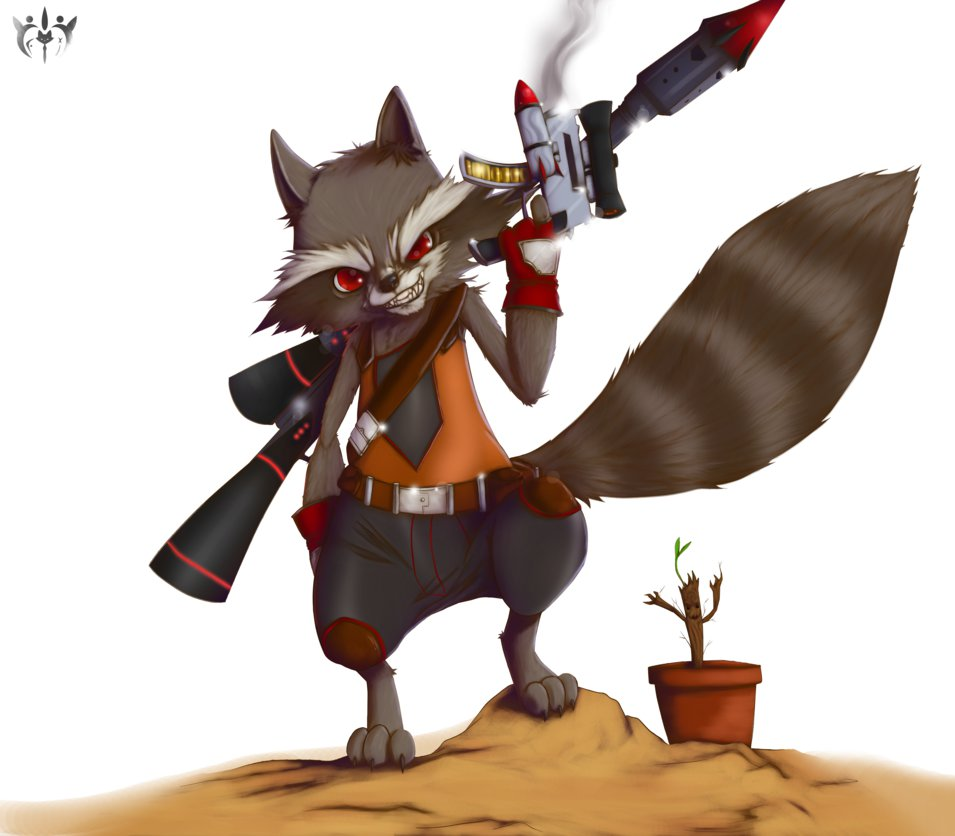 Drawn racoon deviantart Out Out Rocket by by