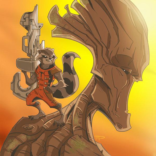 Drawn raccoon deviantart Groot Guardians: Raccoon by Groot