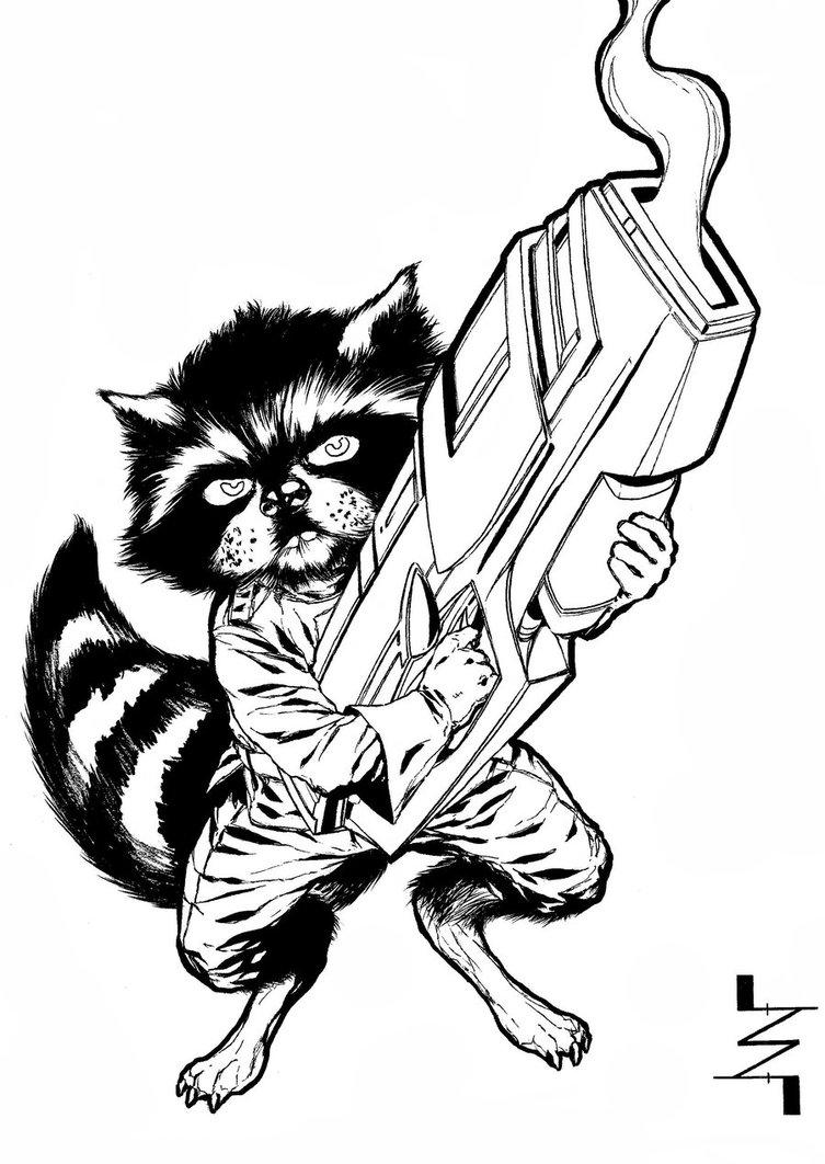 Drawn racoon deviantart Raccoon AlbertoNavajo on Rocket Raccoon